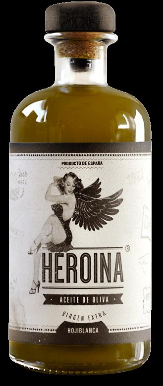 Diseño gráfico de etiqueta para botella de aceite de oliva diseñado por Garaje Gráfico